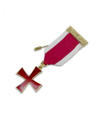 K004 Kt Cross Breast Jewel