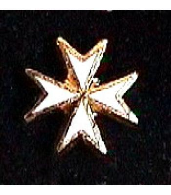 G144 Km Lapel Badge White Maltese Cross