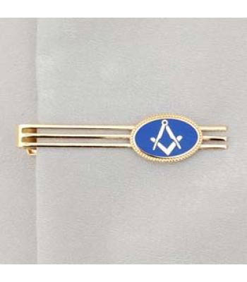 G234 Tie Retainer - Blue Oval